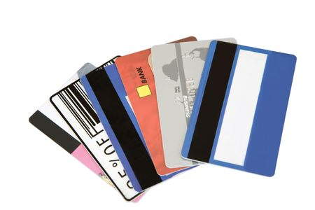different credit cards found in a wallet Stock Photo - 7261661