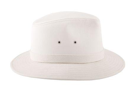 white fashion hat for safari, travel concept photo