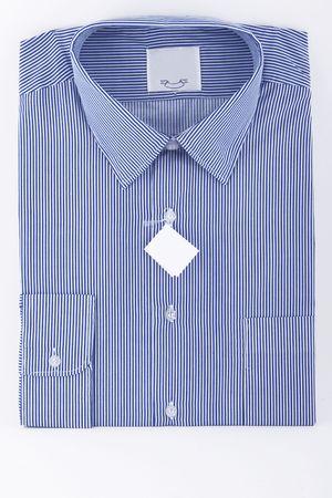 dresscode: blue business striped shirt on white background