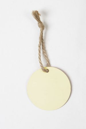 round blank tag for products on white background Stock Photo - 7543390