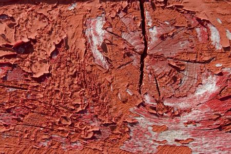 red wooden with grunge paint, textured surface Stock Photo - 7670618