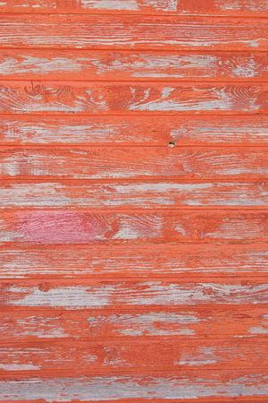 peeling: red striped wooden with grunge paint, textured surface Stock Photo