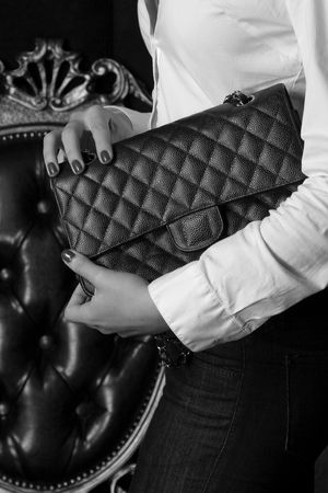 vintage bag, still fashionable on bw photography photo