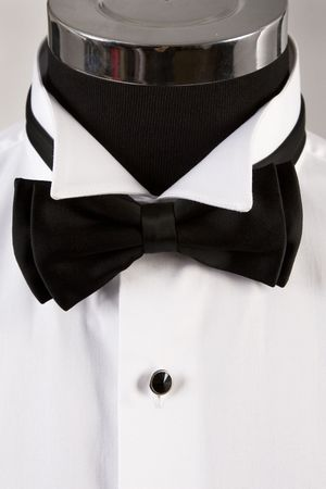 front view of bow tie and ceremony shirt Stock Photo - 7670852