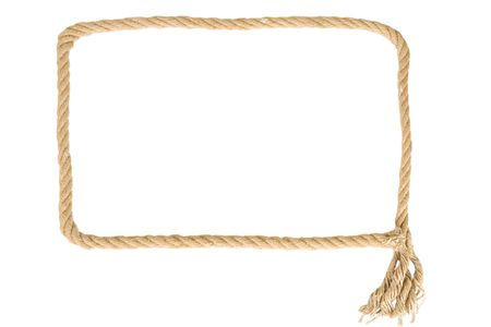 frame made from rope on white background Stock Photo - 7670667