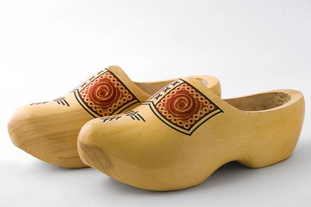 A pair of Wooden Dutch Shoes photo