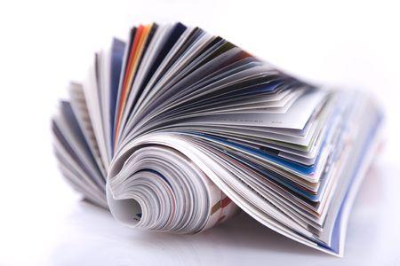 portada de revista: Revista Roll aislado en blanco