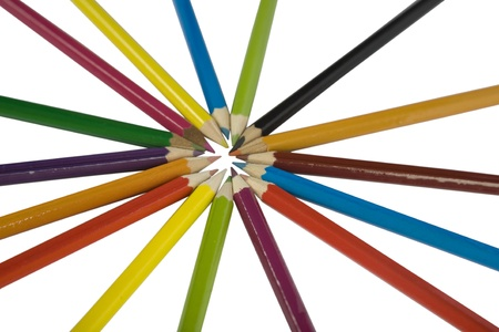 Colored pencils, isolated on the white background Stock Photo - 8341389