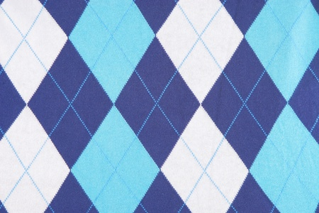 blue and turquoise background texture of some plaid fabric photo
