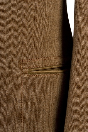 close-up of elegant suit, detail of cuf and pocket photo