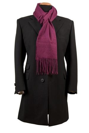 Front view of black elegant suit, business fashion