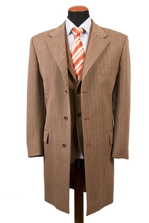 coat and tie: Front view of elegant suit, business fashion