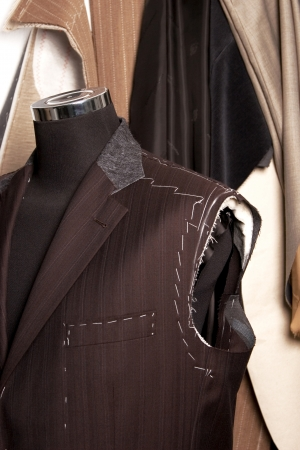 tailored: detail of tailors mannequin a Work in progres