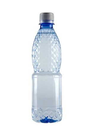 Small bottle of water isolated on white background  photo
