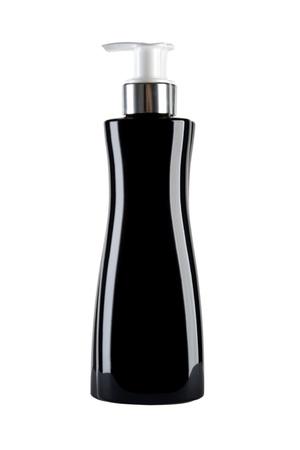 black cosmetics bottle isolated on white background Stock Photo - 9965516