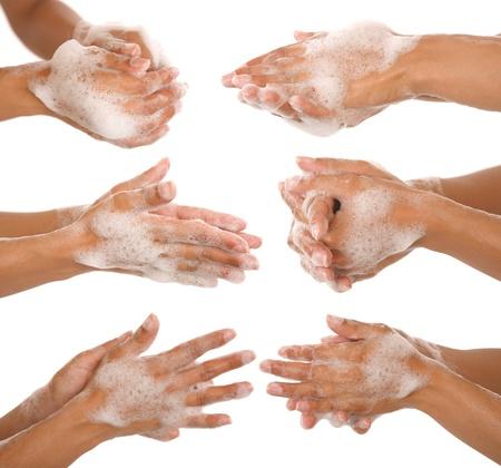 higiena: gest dłoni piękne womans mycia ręce