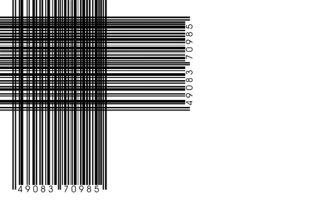 fake bar codes on white background Stock Photo