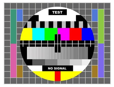 tv kleur testpatroon, test-kaart voor PAL en NTSC Stockfoto