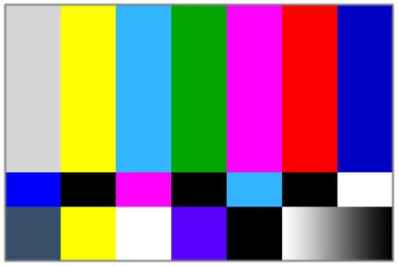 test pattern: Television colored bars signal. Test signal for TV programming Stock Photo