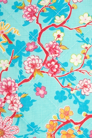 fabric flower pattern, textile background photo