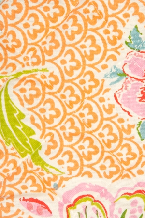 textile background, fabric flower pattern photo