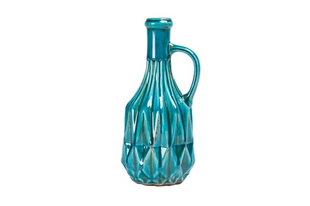 blue vase, bottle isolated on white background  photo