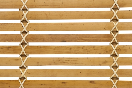 louver boards: macro detail of wooden louver isolated on white background