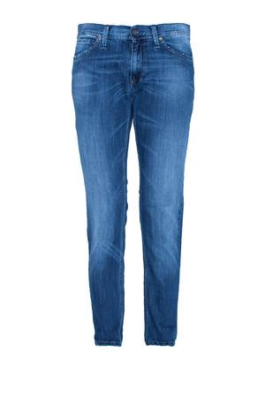 in jeans: Par de los tejanos aislados en blanco
