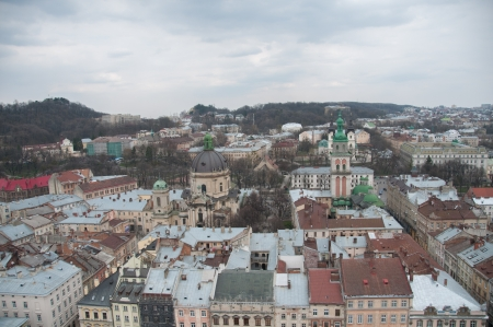 lemberg: Lviv city, Ukraine, the view from the highest point Stock Photo