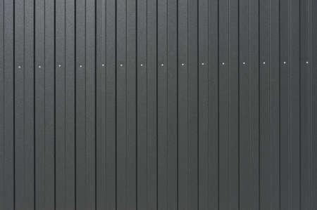 Close-up Texture. Sheet Metal profile, dark gray Stock fotó
