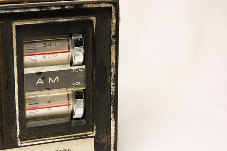 tuner: Vintage looking retro old AM radio tuner Stock Photo