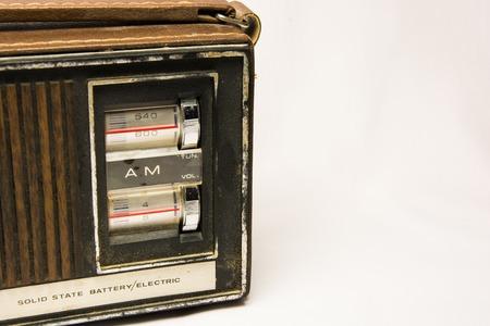 Vintage looking retro old AM radio tuner Reklamní fotografie