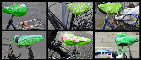 Custom bicycles, tuned, in the city of munich, Germany Stockfoto