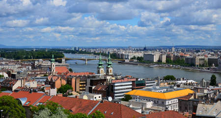 Views from Buda Hill over the city of Budapest, the capital of Hungary
