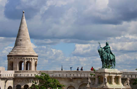 View of the Fisherman's Bastion on Buda Hill, Budapest