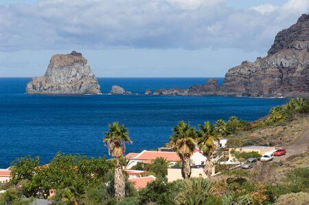 Big Rock (Salmor Rocks) and northeast coast of El Hierro. El Hierro. Canary Islands. Spain.