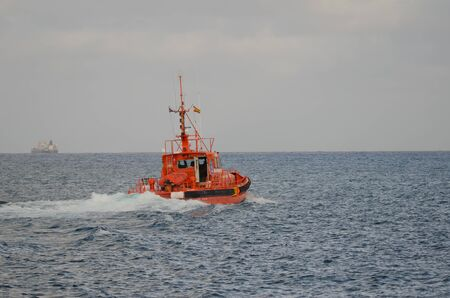 Boat of maritime rescue. Las Palmas de Gran Canaria. Gran Canaria. Canary Islands. Spain.