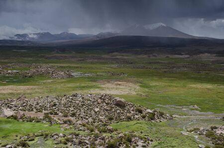 Cotacotani Lakes in Lauca National Park. Arica y Parinacota Region. Chile.