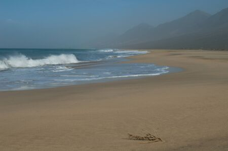View of the beach of Cofete in Jandia.