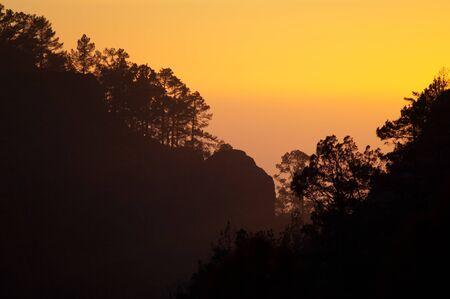 Integral Natural Reserve of Inagua at sunset.