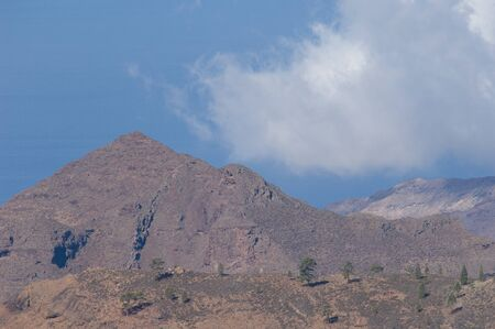 Mountain and cloud in the southwest of Gran Canaria.
