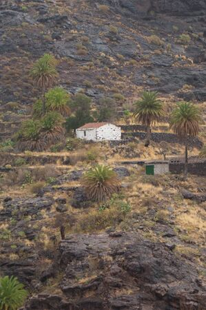 Isolated house in The Aldea ravine. The Nublo Rural Park. Aldea de San Nicolas de Tolentino. Gran Canaria. Canary Islands. Spain.