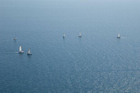 Sailing regatta in the coast of Mogan. Gran Canaria. Canary Islands. Spain. 写真素材