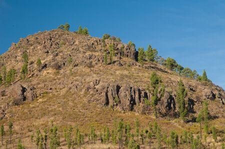 Hill in The Nublo Rural Park. Aldea de San Nicolas de Tolentino. Gran Canaria. Canary Islands. Spain. Foto de archivo