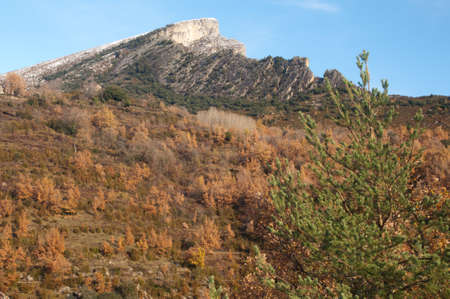 The Vio valley and Mondoto peak in the Pyrenees. Banco de Imagens