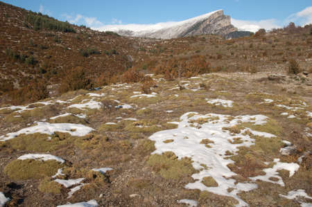 Mondoto peak from Vio in the Pyrenees.