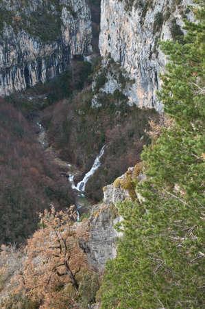 Escuain gorge in the Ordesa and Monte Perdido National Park.