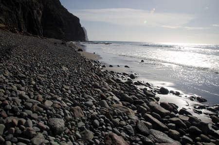 Guigui Chico beach in the Special Natural Reserve of Guigui. Aldea de San Nicolas de Tolentino. Gran Canaria. Canary Islands. Spain. Foto de archivo