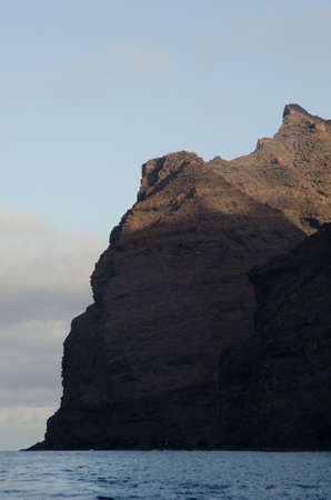 Sea cliff in the Special Natural Reserve of Gui Gui. Aldea de San Nicolas de Tolentino. Gran Canaria. Canary Islands. Spain.