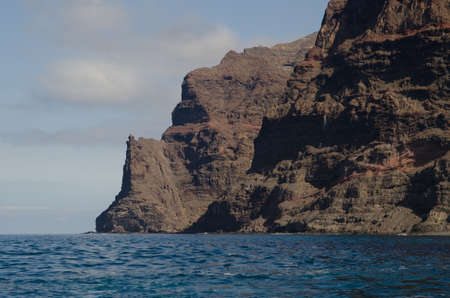 Sea cliffs in the Special Natural Reserve of Gui Gui. Aldea de San Nicolas de Tolentino. Gran Canaria. Canary Islands. Spain.